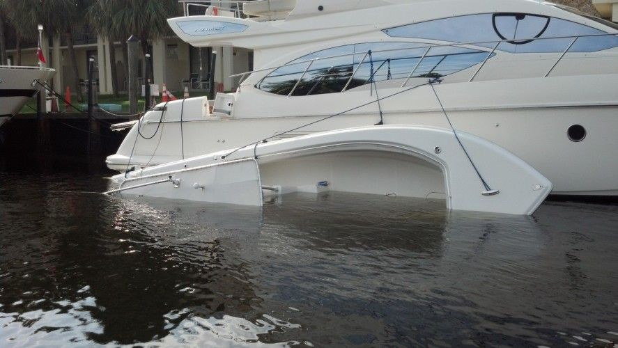 yacht salvage refloat towing ft. lauderdale, miami florida